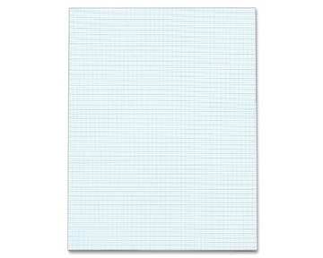 TOPS Quadrille Pad, Gum-Top, 8-1/2 x 11 Inches, Quad Rule (10 x 10), White Paper, 50 Sheets per Pad (33101)