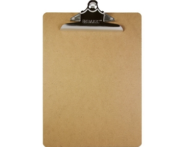 Bazic Hardboard Clipboard with Sturdy Spring Clip, Standard Size (Case of 24)