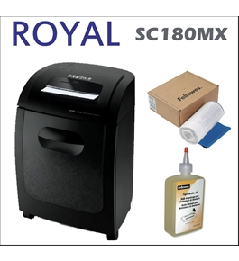 Royal SC180MX 18-sheet Crosscut Paper Shredder + 100 Pack Shredder Bag + Shredder Oil