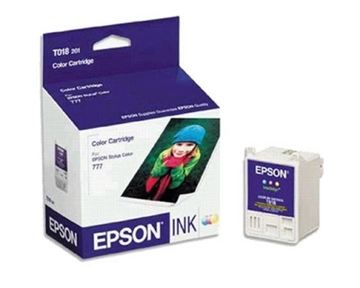 Epson T018201 Color OEM Genuine Inkjet/Ink Cartridge (300 Yield) - Retail