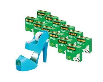 Scotch 3/4 x 1000 Inches Sandal Shoe Tape Dispenser with Magic Tape, 12-Rolls (810K12C30SNDL)