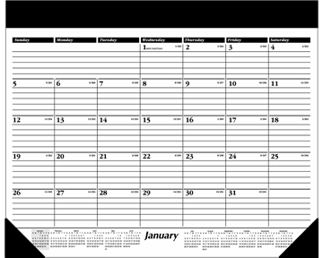 AT-A-GLANCE 2014 Monthly Desk Pad, Black and White, 24 x 19 Inches (SK31-00)