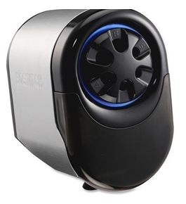 "EPS11HC Bostitch QuietSharp Glow Classroom Electric Pencil Sharpener - Handheld - Hole(s)9"""" x 6.1"""" - Metal - Black, Silver"