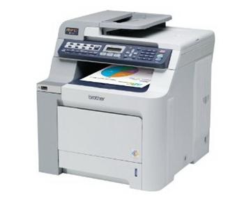 Brother refurbished color laser fax, copier, printer, scanner with network  MFC9120CNRF