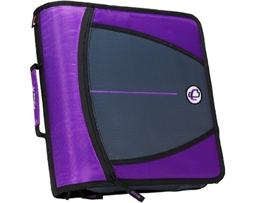 Case-it Large Capacity 3-Inch Zipper Binder, Purple, D-146-PUR