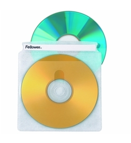 Fellowes CD Sleeves 100 CD Capacity Clear Vinyl Double Sided-50-Pack [CD-ROM]