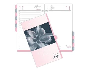 Day-Timer Pink Ribbon Calendar, 3.5 x 6 Inches, Fits Standard 2-Ring Desk Holder