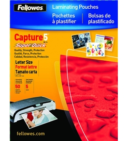 Fellowes Laminating Pouches, 5 Mil, 100 Pack (5223001)
