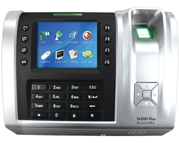 FingerTec TA200+W Wi-Fi Enabled Full Color Fingerprint & RFID Time Clock