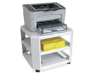 "Master MAT24060 Mobile Printer Stand 3-Shelf 17-4/5""w x 17-4/5""d x 14-3/4""h, ..."