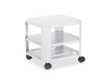 Master« - Mobile Printer Stand, 3-Shelf, 17-4/5w x 17-4/5d x 14-3/4h, Platinum - Sold As 1 Each - Stores printer under desk to free up valuable desktop space.