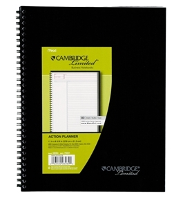 Cambridge Action Planner Notebook, Black (06064)