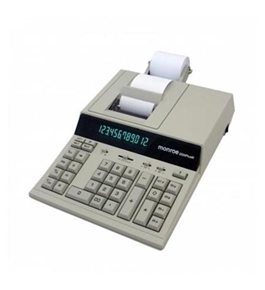 Monroe Desktop Print/Display Calculator, Ivory - 2020plus-3