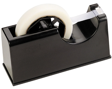 Officemate 2-in-1 Heavy Duty Tape Dispenser 1-Inch and 3-Inch Core, Black (96699)