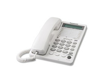 Panasonic KX-TS108W Corded Phone with Clock, White (KXTS108W)
