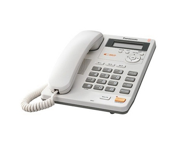 Panasonic KX-TS620W Integrated Corded Phone with All-Digital Answering System, White