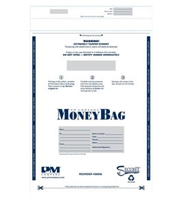 PM Company Plastic Disposable Deposit Bags, 15 x 20 Inches, 50 per Pack, 5 Packs (58006)
