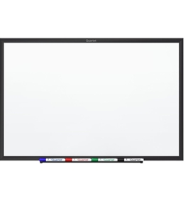 Quartet Standard Magnetic Whiteboard, 3 x 2 Feet, Black Aluminum Frame