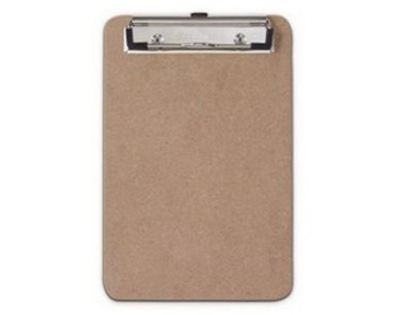 Saunders Recycled Hardboard Clipboard with Low Profile Clip, Memo Size, (5.75 inch x 9.5 inch, 1 Clipboard (05510)