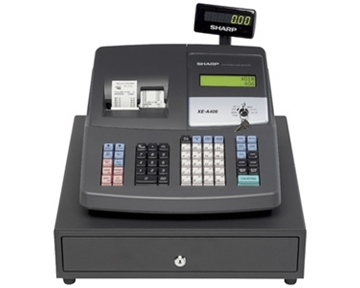 Sharp XE-A406 Dual Printing 7000PLU USB Cash Register - Refurbished