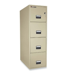 "Sentry 4T3131 4 Drawer 31"" Deep Fire And Water Resistant Vertical Letter File"