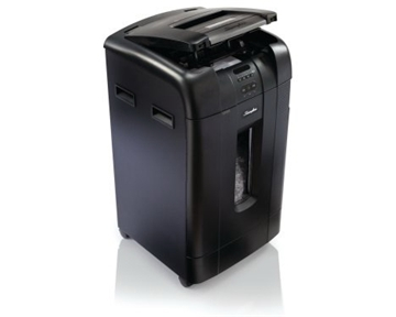 Stack-and-ShredÖ 750M Hands Free Shredder, Micro-Cut, 750 Sheets, 20+ Users