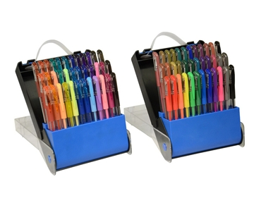 TEKwriterUSA Gelwriter Gel Pen Sets with Carrying Case, 72-Count (27107-D)