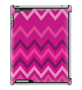 Uncommon LLC Cozy Chevron Magenta Deflector Hard Case for iPad 2/3/4 (C0010-DN)