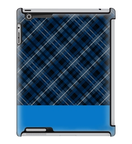 Uncommon LLC Navy Plaid Blue Deflector Hard Case for iPad 2/3/4 (C0010-GM)