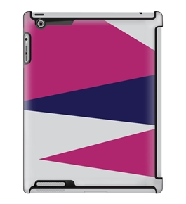 Uncommon LLC Deflector Hard Case for iPad 2/3/4 - Block Zig Zag Gray (C0060-HU)
