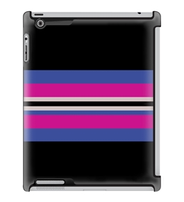 Uncommon LLC Deflector Hard Case for iPad 2/3/4 - Crew Stripe Girly (C0010-ZD)