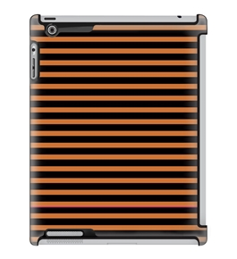 Uncommon LLC Deflector Hard Case for iPad 2/3/4 - Candy Stripe Brick Orange (C0010-YN)