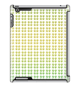 Uncommon LLC Deflector Hard Case for iPad 2/3/4 - Paws Gradient Green Yellow (C0010-WX)