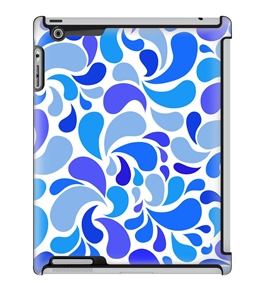 Uncommon LLC Deflector Hard Case for iPad 2/3/4, Blue Smoothie Drops (C0060-TU)