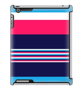 Uncommon LLC Deflector Hard Case for iPad 2/3/4, Navy Blue Pink Stripe (C0070-OL)