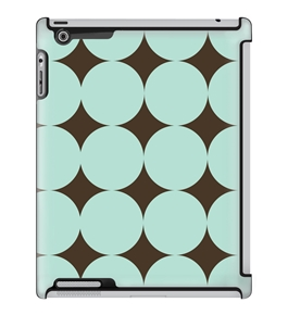 Uncommon LLC Large Green Dots Deflector Hard Case for iPad 2/3/4 (C0060-QR)