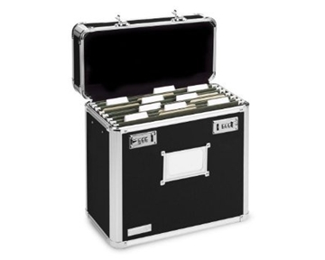 Vaultz VZ01187 - Locking File Tote Storage Box, Letter - Black