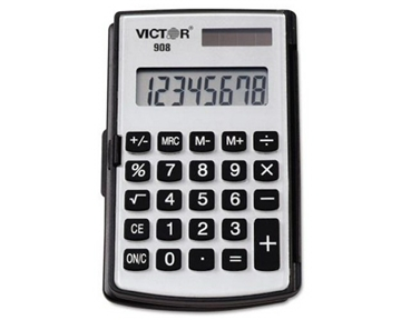 Victor 908 Pocket Calculator Black