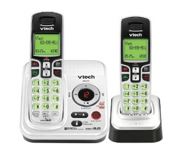 VTech DECT 6.0 Expandable 2-Handset Cordless Phone System with Digital Answering Device and Caller ID