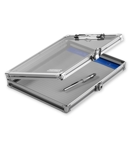 "Locking Storage Clipboard, 8 1/2"" x 11"" - Clear Acrylic - Vaultz - VZ00164-CLR"