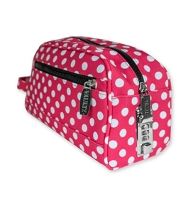 Locking Travel Kit - Polka Dot Nylon - Vaultz - VZ03512