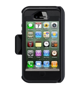 sneakers for cheap ff8a3 581cd OtterBox Defender Case w/ Holster Belt Clip for Apple iPhone 4S (Black)