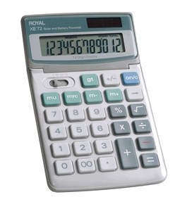 Royal XE72 Calculator with 12 Digit Tiltable Display