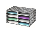 Fellowes Bankers Box Decorative Eight Compartment Literature...