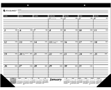 AT-A-GLANCE 2014 Monthly Desk Pad, Black and White, 22 x 17 ...