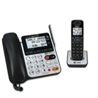 AT&T 84100 DECT 6.0 Corded/Cordless Phone, Black/Silver, 1 B...