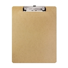 Bazic Hardboard Clipboard with Low Profile Clip, Standard Si...