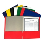 C-Line Recycled Two-Pocket Paper Portfolio, Color May Vary, ...
