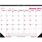 Brownline 2013 Monthly Desk Pad Calendar, January - December...