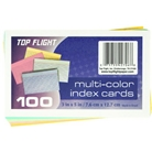 Top Flight Index Cards, Ruled, 3 x 5 Inches, Rainbow Colors,...